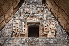 Pyramid of the Magician,Uxmal Mexico. UNESCO World Heritage Site