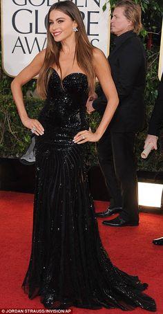 Sofia Vergara in Michael Cinco at the 70th Annual Golden Globes, 2013