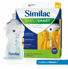 new similac bottle with formula holder in cap... supposed to be a great one for supplemented babies
