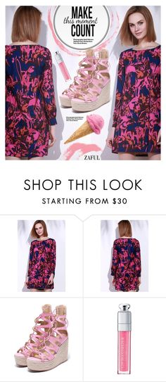 """""""Be Cute!"""" by pokadoll ❤ liked on Polyvore featuring Christian Dior, Hedi Slimane, polyvoreeditorial, polyvorefashion, polyvoreset and zaful"""