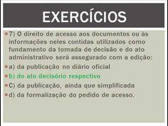 EXERCÍCIOS LEI DE ACESSO À INFORMAÇÃO  1