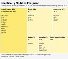 The U.S. has more genetically modified crops than any other country.