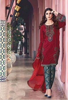 88f8bd9d6a Madeesh Women's Cotton Dress Material (MEBMBL002_Free Size_Maroon. Designer Salwar  SuitsSalwar ...
