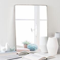 Miroir en métal argent H 55 cm BARBER'S SHOP