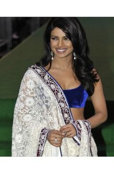 Priyanka Chopra lehenga in White Net Only USD 61(only INR 3152)
