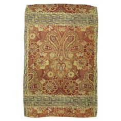 Oriental Style, Paisley Gold Floral Hand Towel
