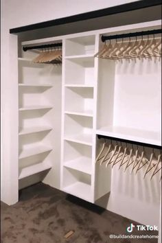 Bedroom Closet Design, Master Bedroom Closet, Home Room Design, Closet Designs, Home Bedroom, Bedroom Decor, Master Closet Layout, Small Master Closet, Bedroom Closet Storage