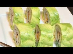 como hacer sushi ENVUELTO EN PALTA (muy fácil) - YouTube