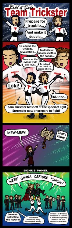 Team Trickster: Loki and Gabe by blackbirdrose.deviantart.com on @DeviantArt