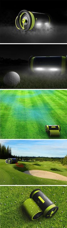 Golf Pro is an automated robot that utilizes an intricate sensor system that detects the location of balls throughout the range. The electric, dual-wheel unit can traverse different types of terrain from flat top grass to sand pits to retrieve balls from almost anywhere.