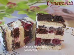"Пляцок ""Суперовий"" Ukrainian Desserts, Russian Desserts, Russian Recipes, Poke Cakes, Cupcake Cakes, Traditional Cakes, Sweet Pastries, Pastry Cake, How Sweet Eats"