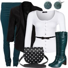 """Black, White & One Color"" by wishlist123 on Polyvore"