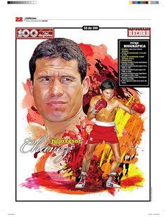 Julio César Chávez 100 Leyendas del Deporte / 100 Sports Legends by Jesús R. Sánchez, via Behance