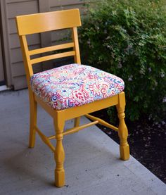 refinished craft chair tutorial