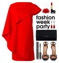 """""""Red"""" by ela79 ❤ liked on Polyvore featuring Givenchy, Chanel, McTeigue & McClelland and Riccio Caprese"""