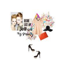 """Get some"" by winningdays on #polyvore - #collage #fashion #dress #hat #heart #highheels #handbag"