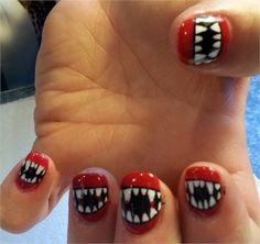 Day 297: Vampire Nail Art www.nailsmag.com