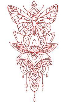 Mandala Tattoo Design, Tattoo Design Drawings, Henna Tattoo Designs, Tattoo Sleeve Designs, Tattoo Sketches, Sleeve Tattoos, Tattoo Outline Drawing, Henna Tattoo Stencils, Dope Tattoos