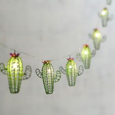 For a fabulous, intimate lighting accent, think small. Our battery-powered Cactus Glimmer Strings® use tiny (some would say magical) LEDs the size of a grain of rice strung along shapeable, thread-sized silver filament to create an almost weightles My New Room, My Room, Dorm Room, Deco Cactus, Cactus Cactus, Indoor Cactus, Mini Cactus, Indoor Succulents, Cactus Gifts