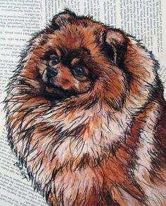 Pomeranian 8x10 Print by christasdesigns on Etsy