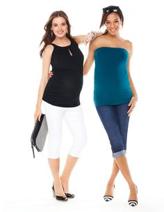 Thyme Maternity crops and summer top #maternity #fashion #thymematernity