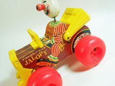 Vintage Fisher Price Clown in Jalopy