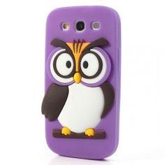 Galaxy S3 violetti pöllö silikonisuojus. Samsung Galaxy S3, Chicken