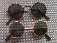2er Set Sonnenbrillen im 70er Jahre Style Stil Nr.3 Retro Hippie Goa Brille 70s