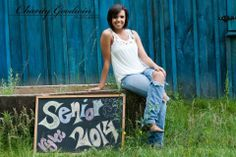Senior Girl/Senior Girl Pose/Senior photo ideas... Old chalk board Senior 2014 @CharityGoodwinPhotography