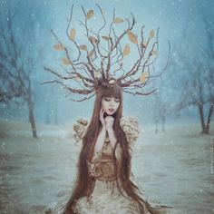 Anita Anti, a Ukrainian photographer based in New York, takes magical photographs of women and animals in forests, inspired by fairy tales ...