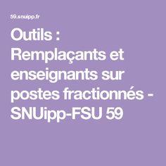 Outils : Remplaçants et enseignants sur postes fractionnés - SNUipp-FSU 59