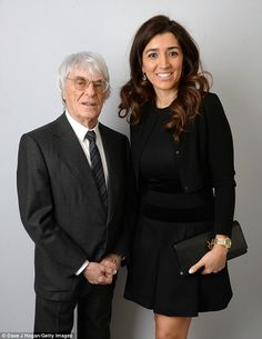The main man: Formula One boss Bernie Ecclestone also on hand to take part in the auction...
