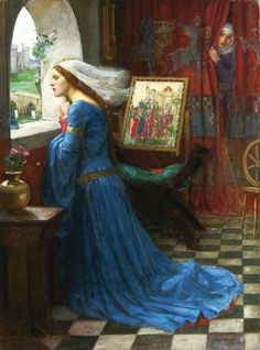 """Fair Rosamund""  Art by John William Waterhouse."