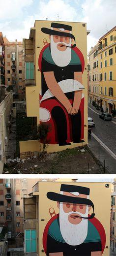Murals by Agostino Iacurci   Inspiration Grid   Design Inspiration