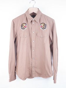 Image of Number (N)ine - Embroidered Snap Front Shirt