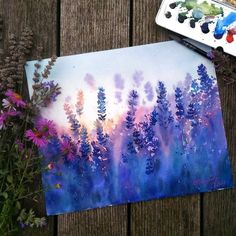 Ideas Anime Art Watercolor Paintings For 2019 Art Inspo, Painting Inspiration, Art Watercolor, Watercolor Flowers, Acrylic Flowers, Simple Watercolor Paintings, Art Diy, Guache, Diy Artwork