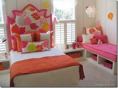 Cute idea for girls bedroom!