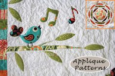 Songbird, Trees and Sun Applique Patterns
