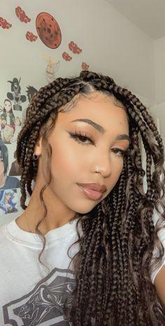 Baddie Hairstyles, Summer Hairstyles, Pretty Hairstyles, Girl Hairstyles, Braid Hairstyles, Braids With Curls, Braids For Black Hair, Blonde Box Braids, Black Girl Braids