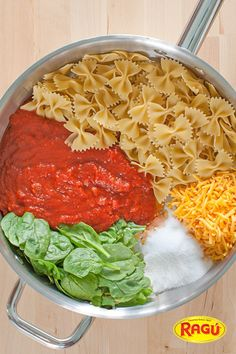 Just six ingredients makes this super Easy Cheesy #OnePotPasta! Created by @followcharlotte using @Ragú Sauce, this recipe is a lifesaver for weeknight dinners! Less prep time, fewer dishes to wash, and did we mention delicious?