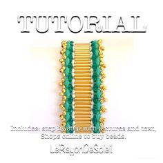 Glass beads beading tutorial superduo beads pattern beaded jewelry beadweaving tutorial bracelet tutorial. Casablanca.