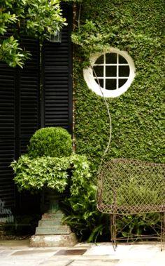 Green and white garden