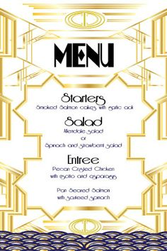 Customized Great Gatsby Menu by ScriptedEverAfter on Etsy, $1.50