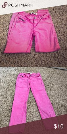 Pink jeans Worn once Jeans Skinny