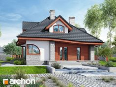 Single-family house design House in zefirant 5 (P) – Table Types Bungalow House Design, Modern House Design, 1200 Sq Ft House, Plans Architecture, Home Fashion, House Plans, Construction, How To Plan, Mansions