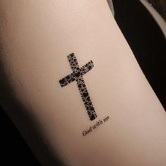 Chic Waterproof Cross Hexagram Pattern Tattoo Sticker For Women