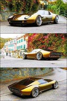 Sexy af this Lamborghini Miura Lamborghini Supercar, Lamborghini Miura, Lamborghini Models, Supercars, Cool Sports Cars, Sport Cars, Cool Cars, Custom Muscle Cars, Custom Cars