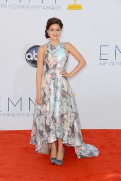 Emmy Awards 2012: Ariel Winter wore a metallic floral gown paired with gray satin pumps.  #Emmys