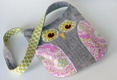 bolsos de tela en forma de buho - Buscar con Google