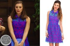 Annabeth Nass (Kaitlyn Black) wears this blue and pink collared eyelet dress in this week's episode of Hart of Dixie. It is the Lilly Pulitzer Pemberton Dress.